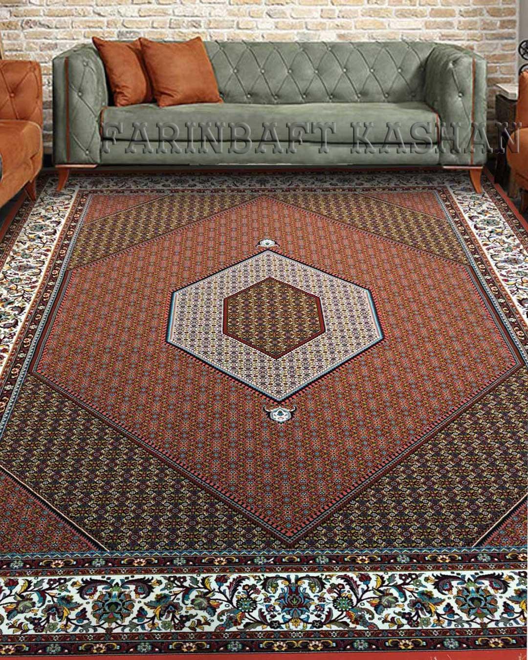 نمای بافته شده فرش بیجار