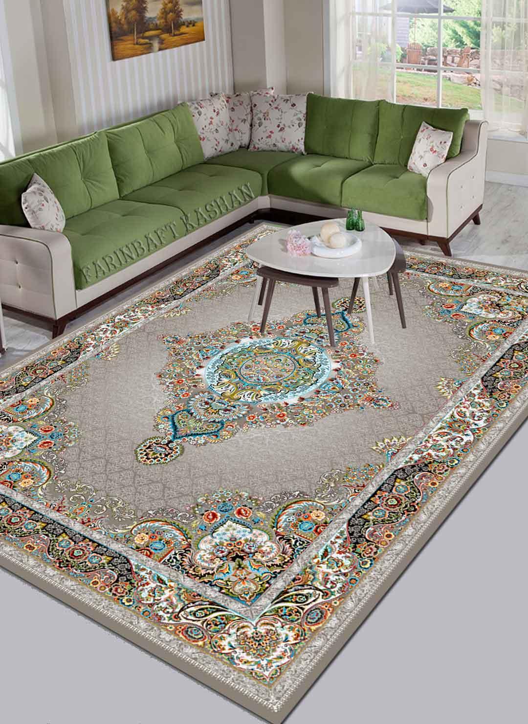 نمای بافته شده فرش صدف