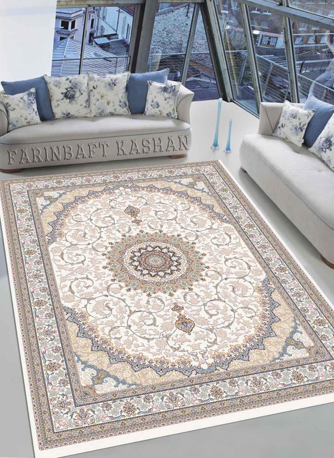نمای بافته شده فرش شاه نشین