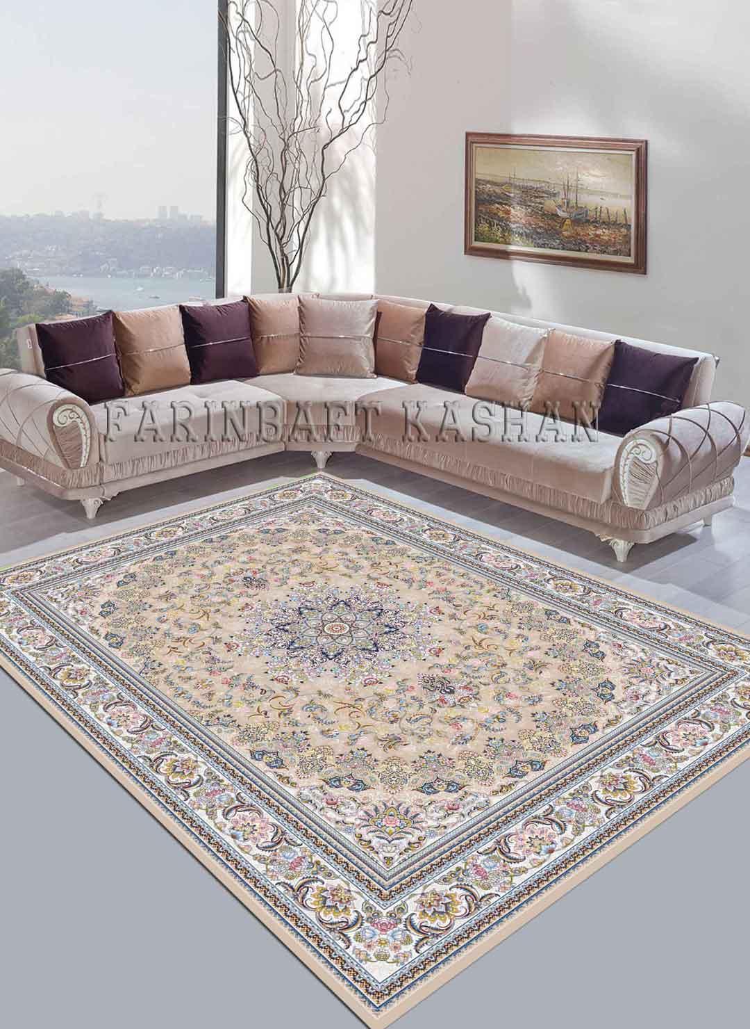 نمای بافته شده فرش میخک