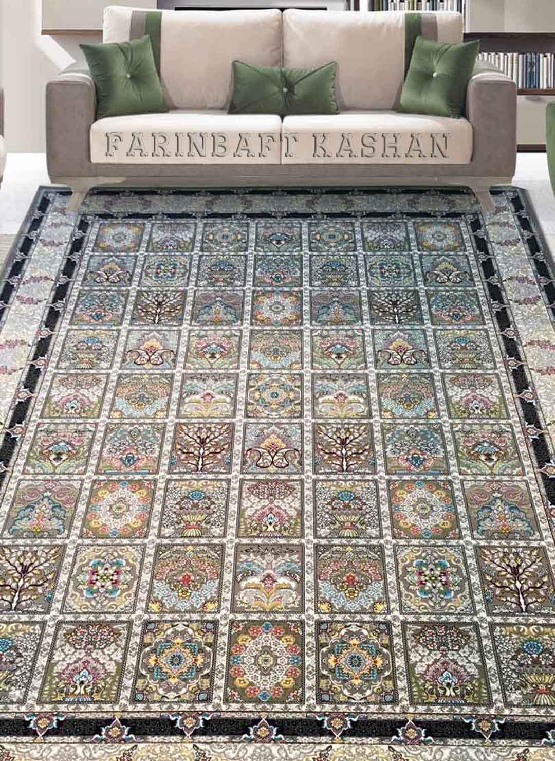 نمای بافته شده فرش شاهکار