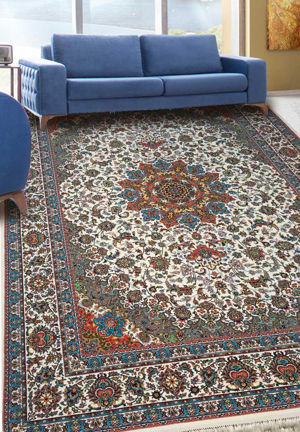 نمای بافته شده فرش اصفهان