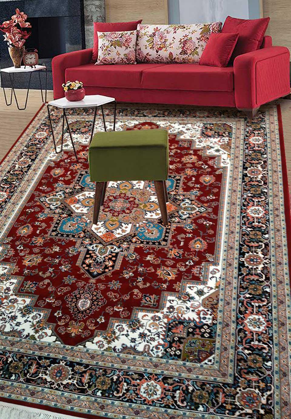 نمای بافته شده فرش هریس