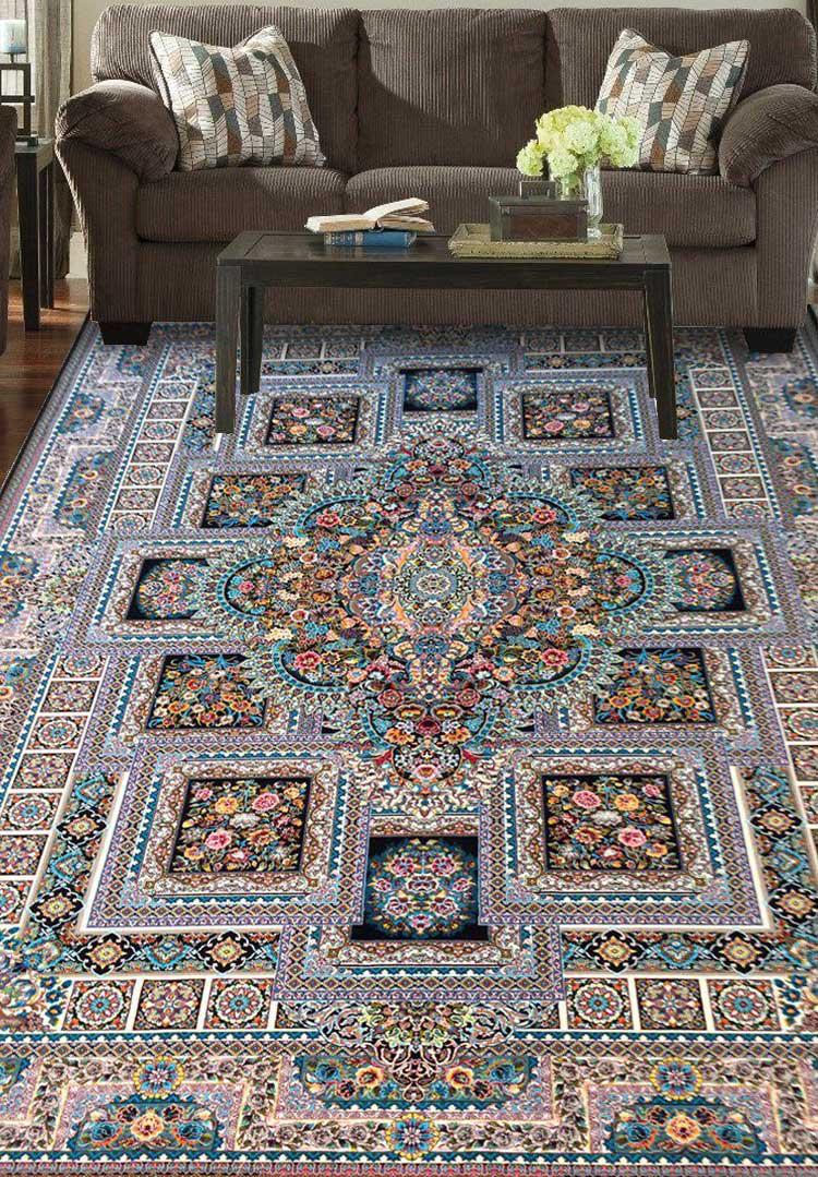 نمای بافته شده فرش خشت گل