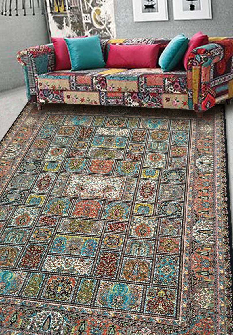 نمای بافته شده فرش خشتی