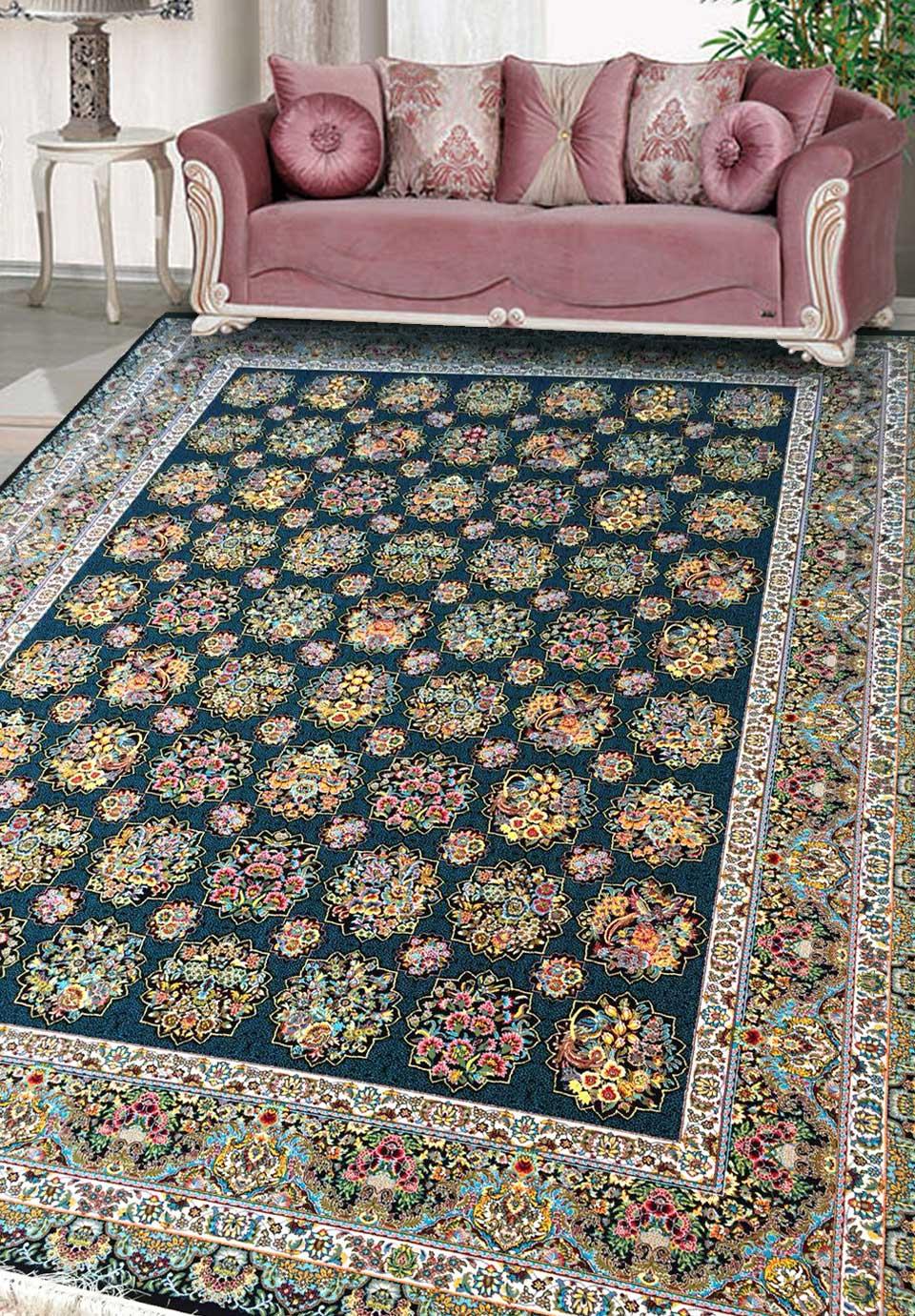 نمای بافته شده فرش گل آذین