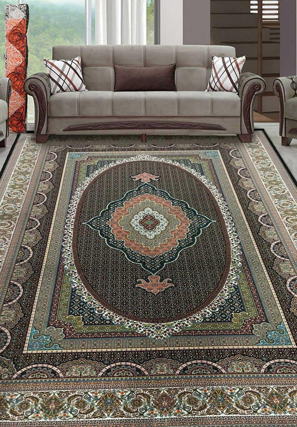 نمای بافته شده فرش قاب ماهی