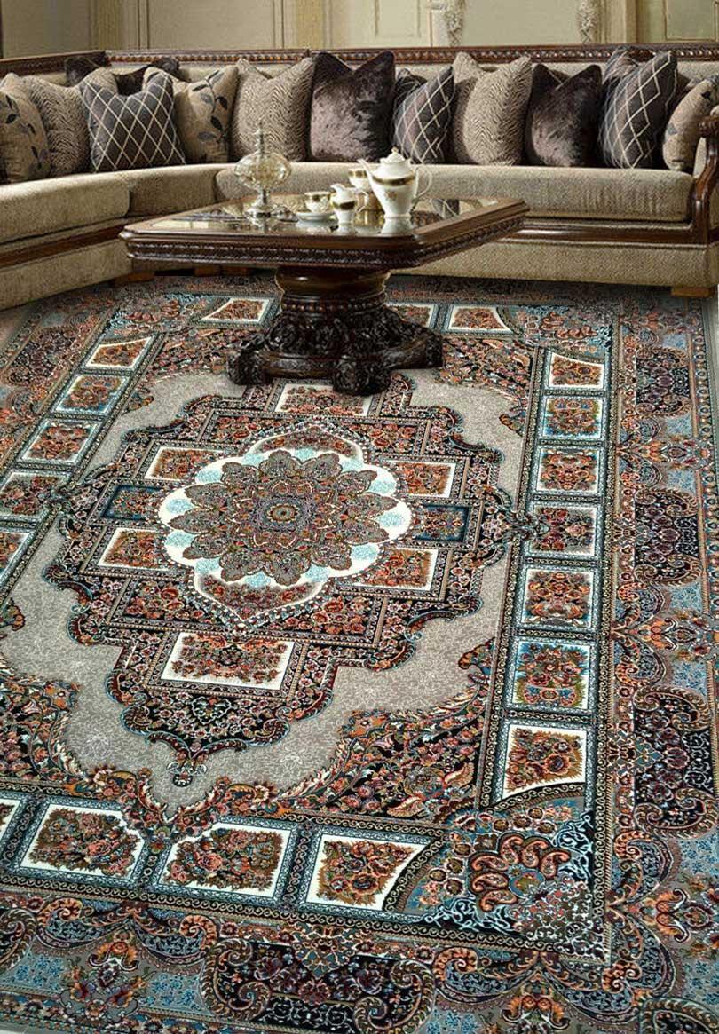 نمای بافته شده فرش حوض نقره ای