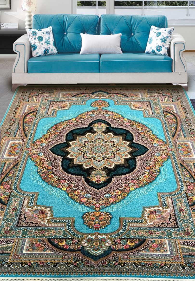 نمای بافته شده فرش باغ معلق