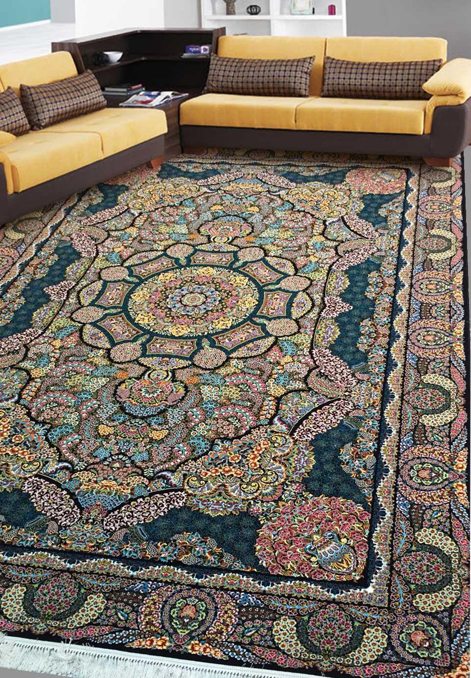 نمای بافته شده فرش گلزار