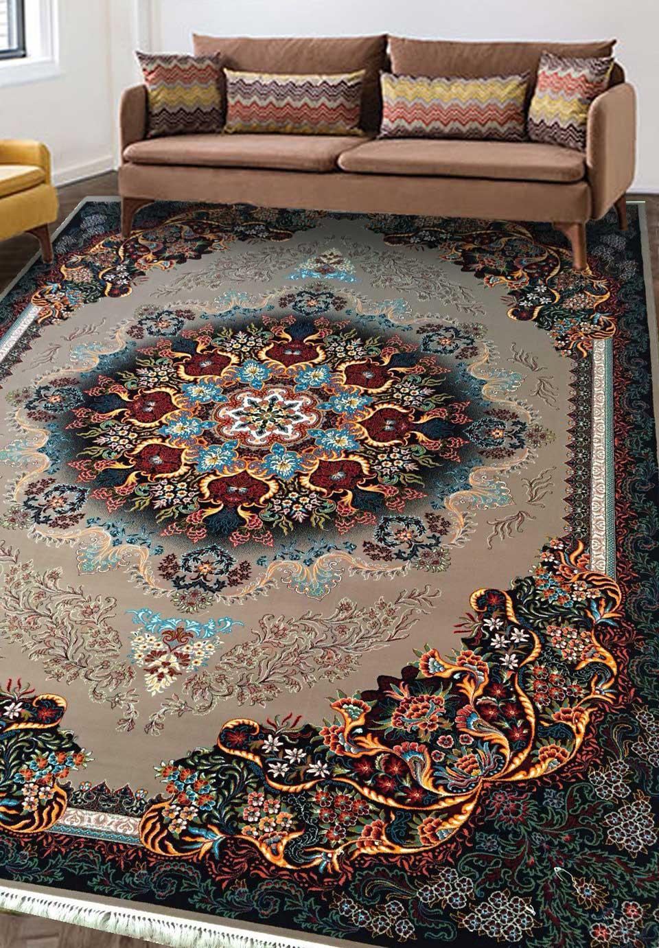 نمای بافته شده فرش گیسو