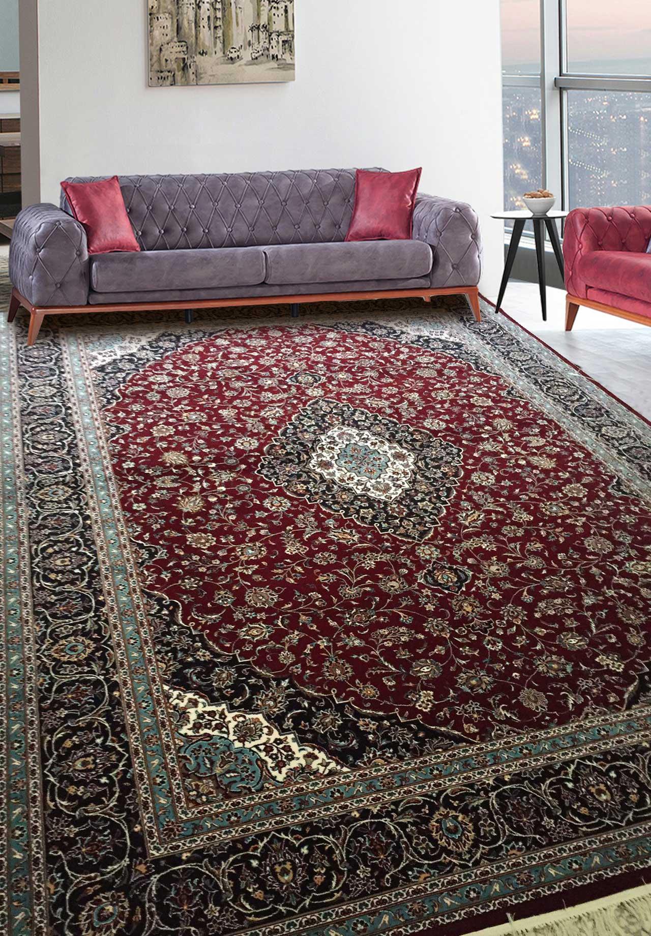 نمای بافته شده فرش کاشان