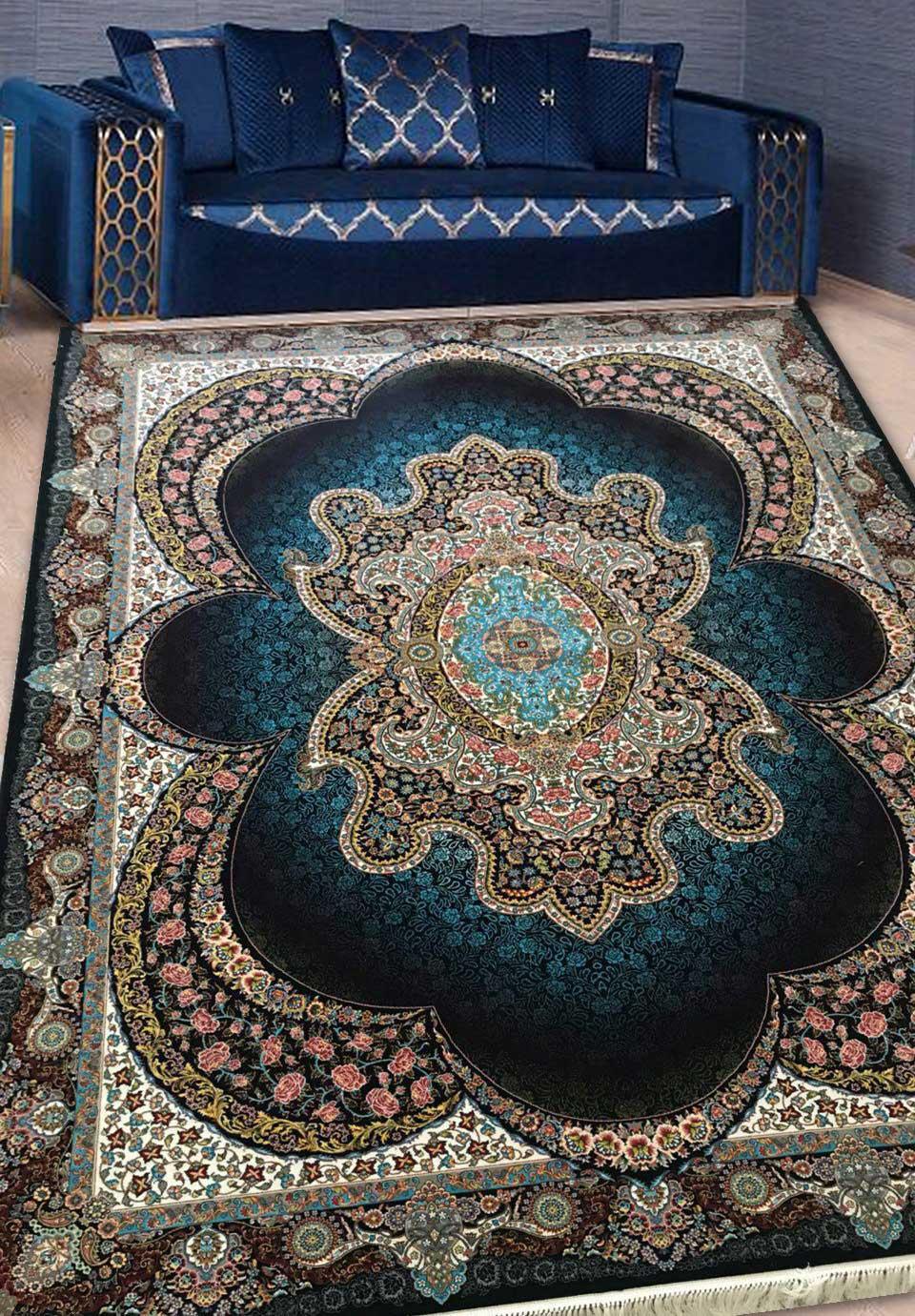 نمای بافته شده فرش مهبد