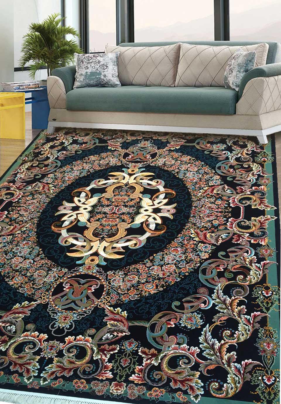 نمای بافته شده فرش ویولت