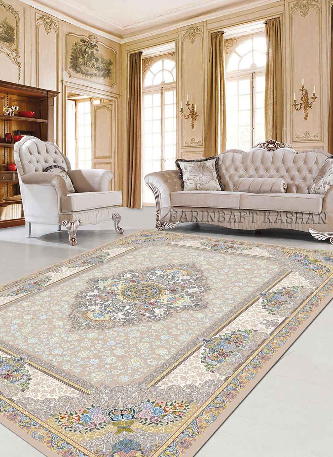 نمای بافته شده فرش نرگس