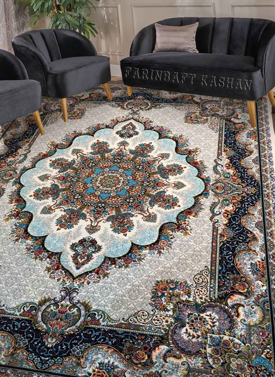 نمای بافته شده فرش نیلا