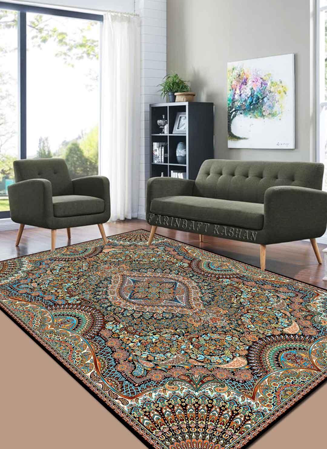 نمای بافته شده فرش آیلار