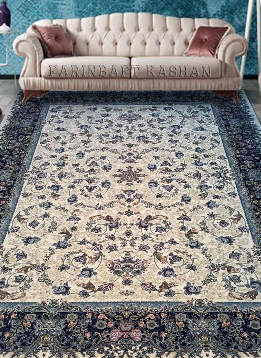 نمای بافته شده فرش گلسرخ