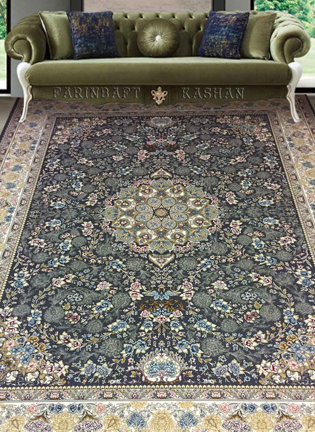 نمای بافته شده فرش تابان
