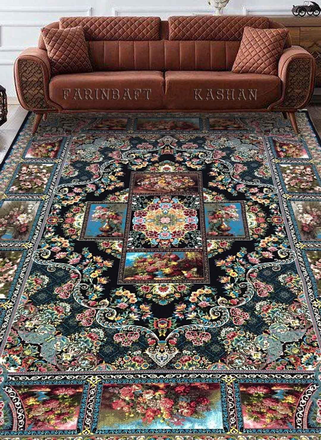 نمای بافته شده فرش چهارفصل