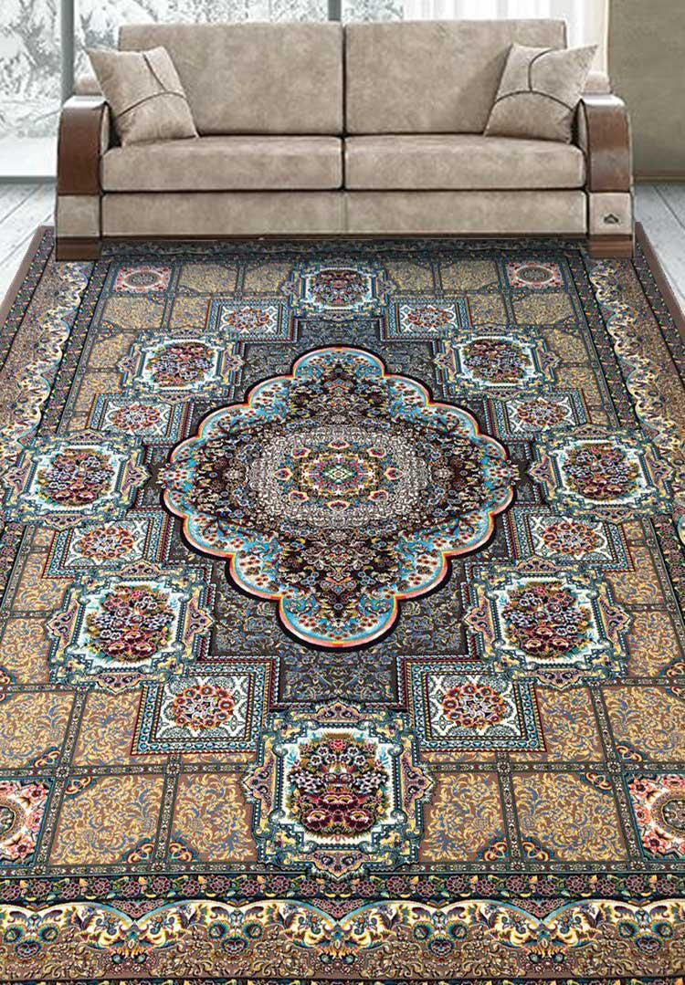 نمای بافته شده فرش حوض طلا
