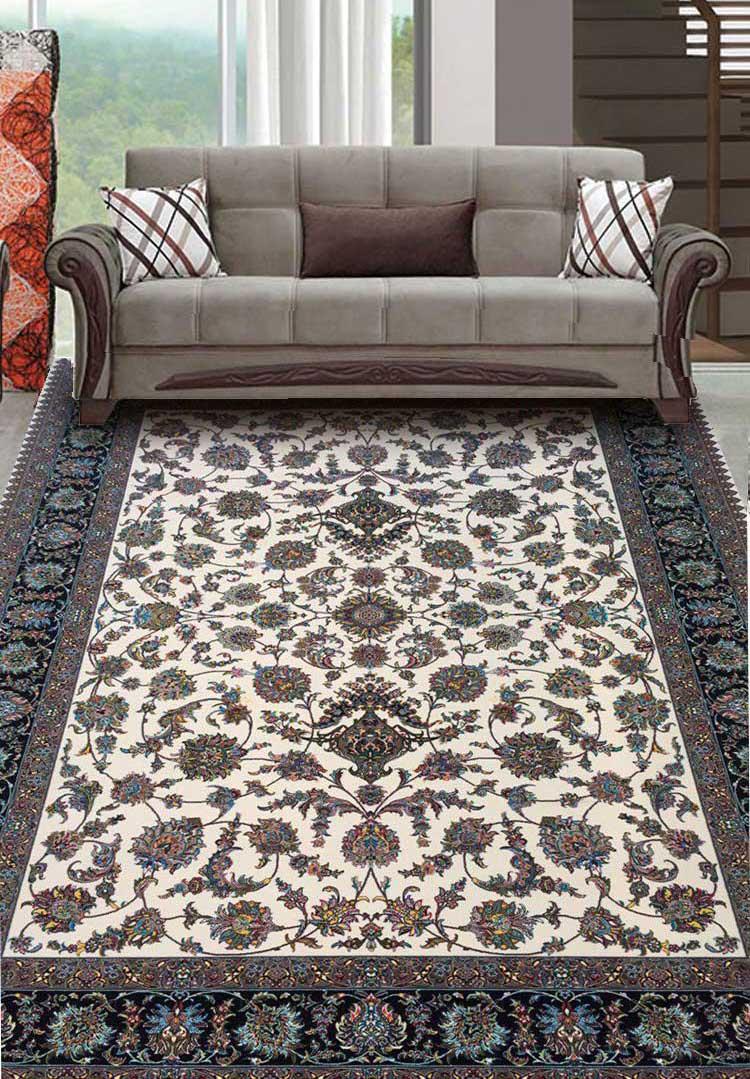 نمای بافته شده فرش گل افشان