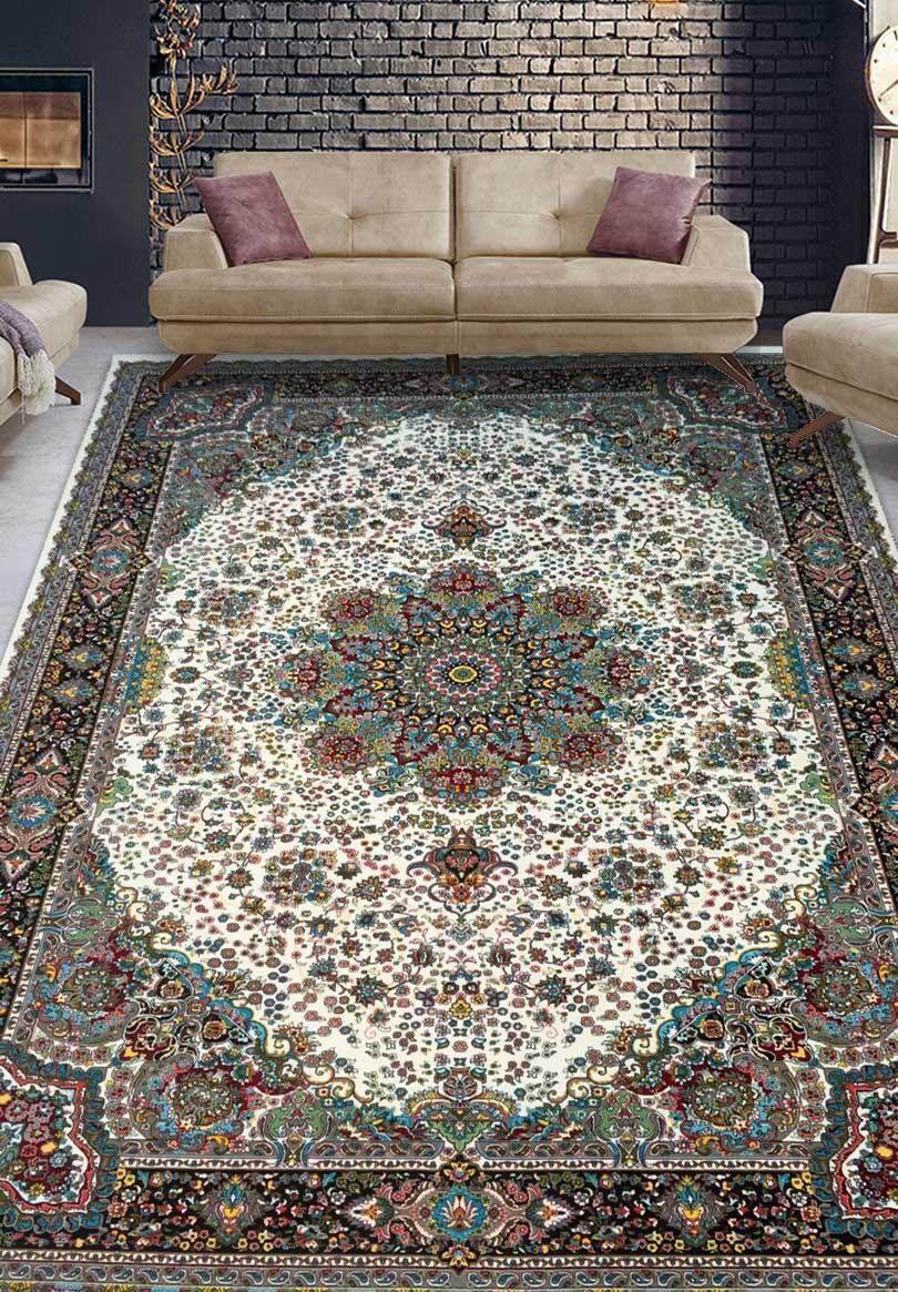 نمای بافته شده فرش قره باغ