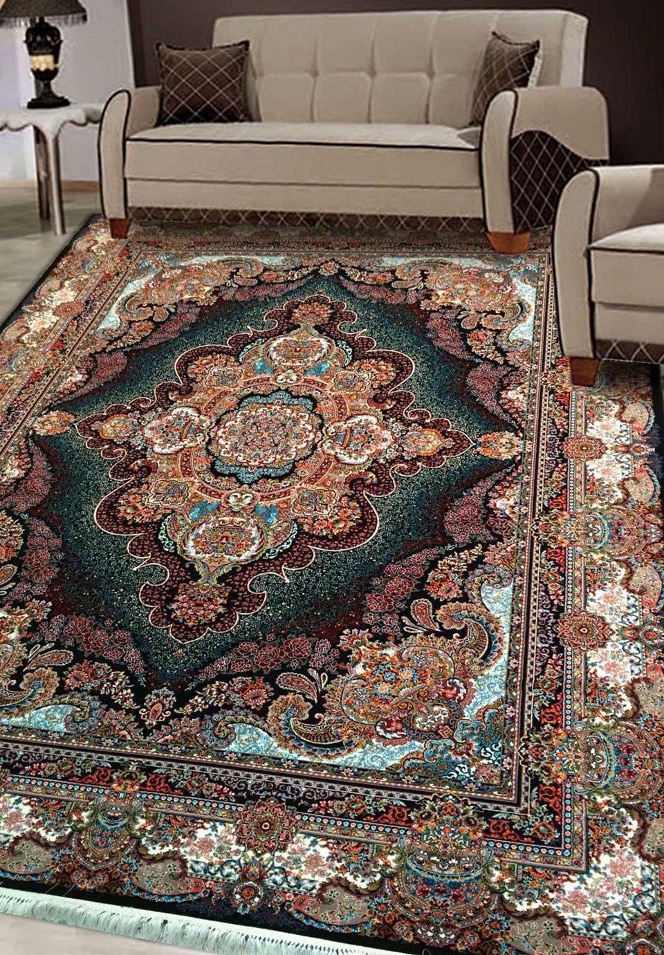 نمای بافته شده فرش ستاره
